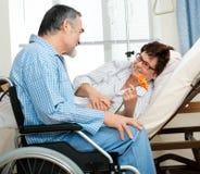 Data in ospedale Immagini Stock Libere da Diritti