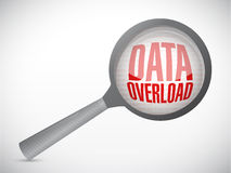 Data overload search illustration. Design over white Stock Images