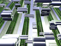 Data packets Royalty Free Stock Image