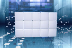 Data panel in the cyberspace Stock Photo