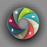 Data pattern of cyclical processes, creative design. Stock Photography
