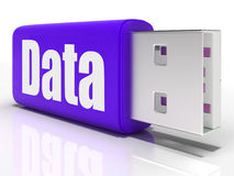 Data Pen drive Means Database Or Digital Stock Images