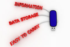 Data  Pendrive Timeline Royalty Free Stock Image
