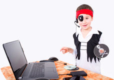 Data piracy Royalty Free Stock Photo