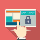 Data privacy in cloud computing technology with Royalty Free Stock Images