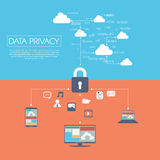 Data privacy in cloud computing technology with Royalty Free Stock Photo
