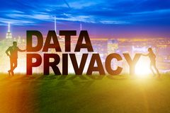 The data privacy concept in modern it technology. Data privacy concept in modern IT technology Royalty Free Stock Photo
