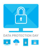 Data Privacy Day 26 January Icons Collection Royalty Free Stock Image