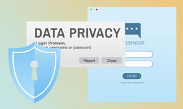 Data Privacy protection Policy Technology Legal Concept Royalty Free Stock Images