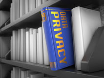 Data Privacy - Title of Blue Book. Stock Images