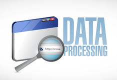 Data processing browser illustration design Royalty Free Stock Images
