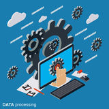 Data processing, cloud computing, network vector concept Royalty Free Stock Photo