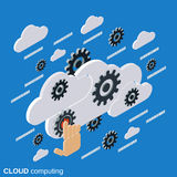 Data processing, cloud computing, network vector concept Royalty Free Stock Photos