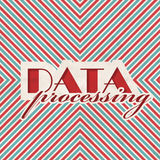 Data Processing Concept on Striped Background. Stock Photos