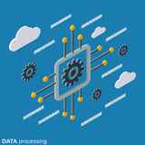 Data processing 3d isometric vector concept Stock Image