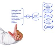 Data processing diagram Royalty Free Stock Images