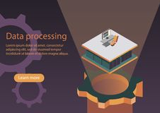 Data processing vector illustration