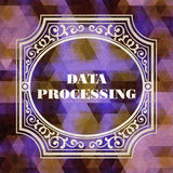 Data Processing. Vintage design. Royalty Free Stock Image
