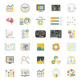 Data Processing Volume  on White Background Icons Set Infographic Flat Design Mobile Apps Template Vector Royalty Free Stock Image