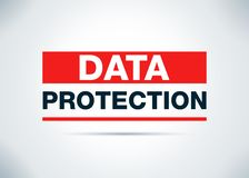 Data Protection Abstract Flat Background Design Illustration royalty free illustration