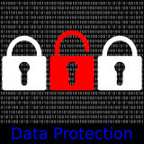 Data Protection. An abstract illustration data protection Royalty Free Stock Photos