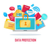 Data Protection Banner Stock Photo