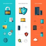 Data Protection Banners Vertical Stock Photos