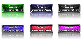 Data protection buttons. Stock Images