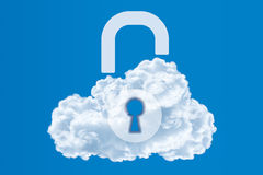 Data protection, Cloud computing security concept Stock Photos