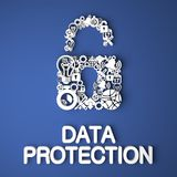 Data Protection Concept. Royalty Free Stock Photo