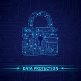 Data Protection Concept Royalty Free Stock Photography