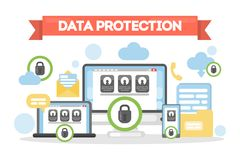 Data protection concept. Royalty Free Stock Image