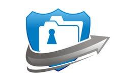 Data protection concept. Logo Design Template Vector Stock Photos