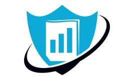 Data protection concept. Logo Design Template Vector Royalty Free Stock Photo