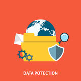 Data protection concept. Editable EPS vector format Stock Photos