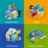 Data Protection Concept Icons Set Stock Photography