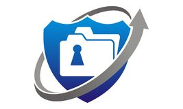 Data protection concept. Logo Design Template Vector Royalty Free Stock Photography