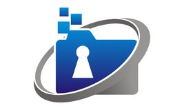 Data protection concept. Logo Design Template Vector Royalty Free Stock Photos