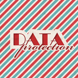 Data Protection Concept on Striped Background. Stock Photography