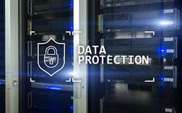 Data protection, Cyber security, information privacy. Internet and technology concept. Server room background. Data protection, Cyber security, information Stock Image