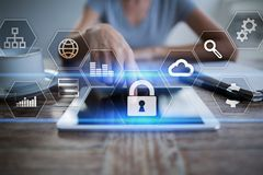 Free Data Protection, Cyber Security, Information Safety And Encryption. Internet Technology And Business Concept. Royalty Free Stock Photography - 108807837