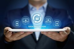 Data protection Cyber Security Privacy Business Internet Technology Concept.  Stock Photo