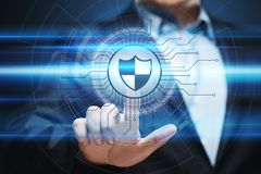 Data protection Cyber Security Privacy Business Internet Technology Concept.  Royalty Free Stock Images