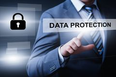 Data protection Cyber Security Privacy Business Internet Technology Concept Stock Images