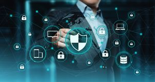 Data protection Cyber Security Privacy Business Internet Technology Concept.  Royalty Free Stock Image