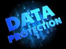 Data Protection on Dark Digital Background. Stock Image