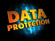Data Protection - on Digital Background. Stock Photos