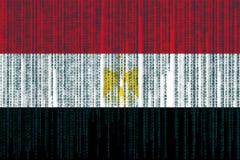 Data protection Egypt flag. Egyptian flag with grunge texture. Stock Photo