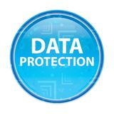 Data Protection floral blue round button royalty free illustration