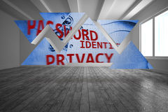 Data protection graphic on abstract screen Royalty Free Stock Photos